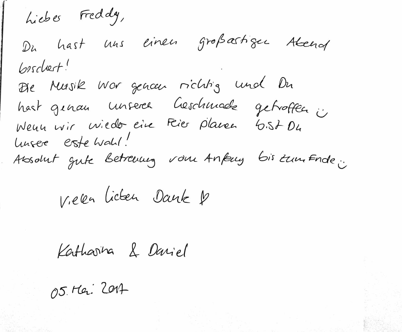 Hochzeit von Katha und Daniel auf Hofgut Dagobertshausen - DJ Freddy Arévalo