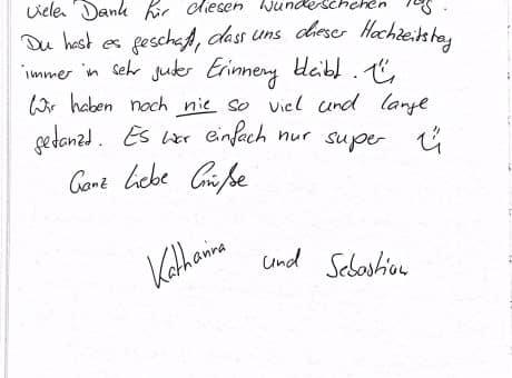 Hochzeit von Katharina und Sebastian im Klosterwald - DJ Empfehlung Lich