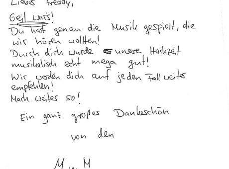 Hochzeits-DJ Wetzlar - DJ-Bewertung