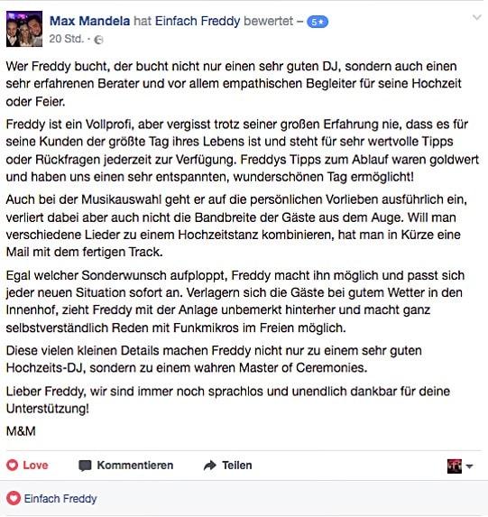 DJ-Bewertung von Mirjam und Max.