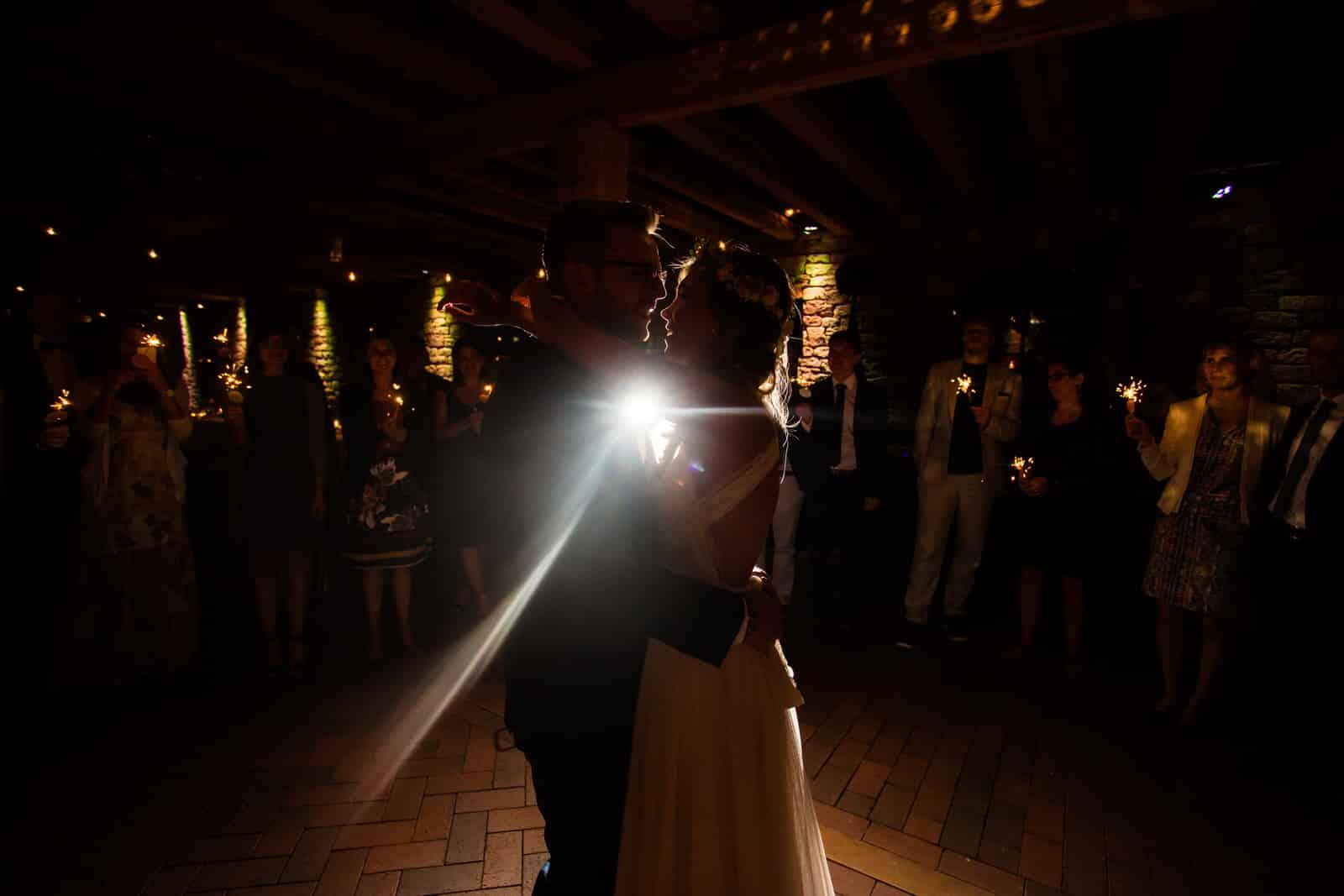 Wunderkerzen zum Hochzeitstanz