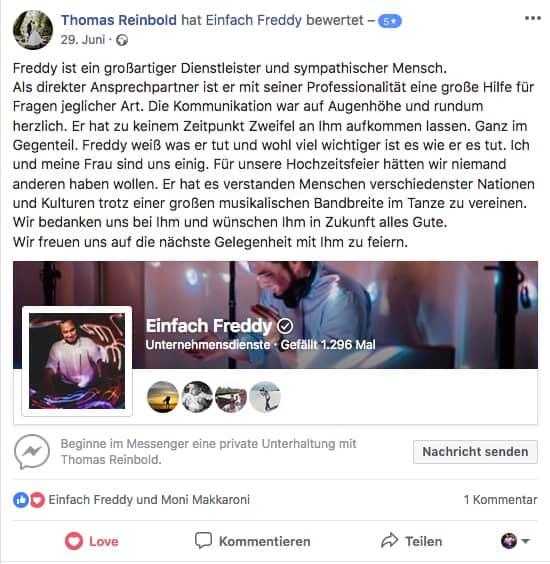 Bewertung von Thomas und Moni - Hochzeit in Flörsheim